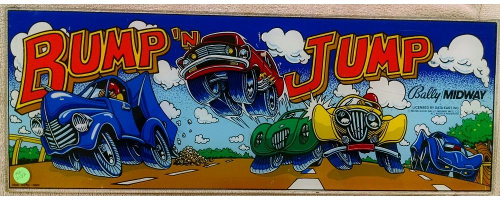 Bump 'n Jump - Original Arcade Marquee - Bally / Midway