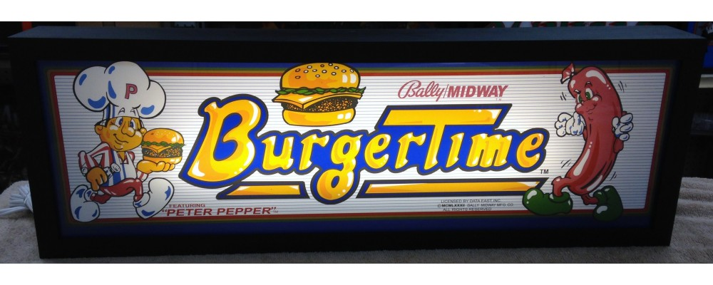 Burger Time Arcade Marquee - Lightbox - Midway