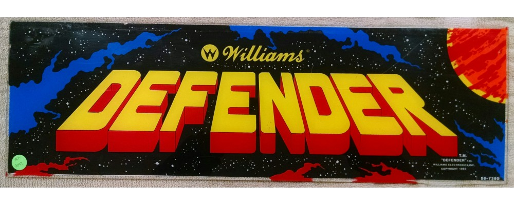 Defender - Original Arcade Marquee - Williams