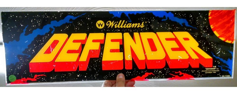 Defender - Original Arcade Marquee - Williams