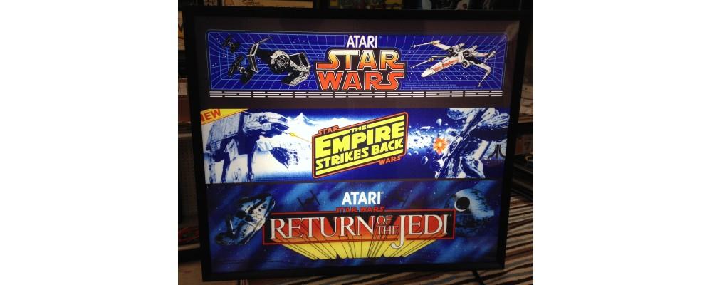 Star Wars Triple Marquee - Arcade Marquee Print - Lightbox - Atari