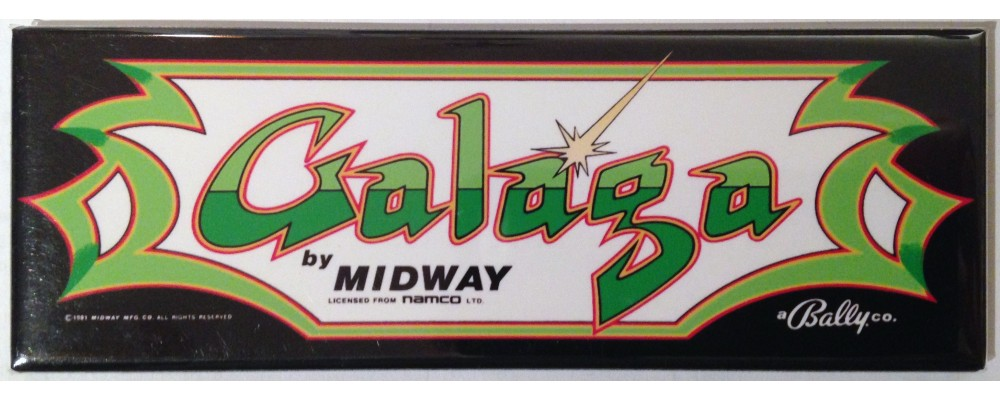 Galaga - Marquee - Magnet - Bally / Midway