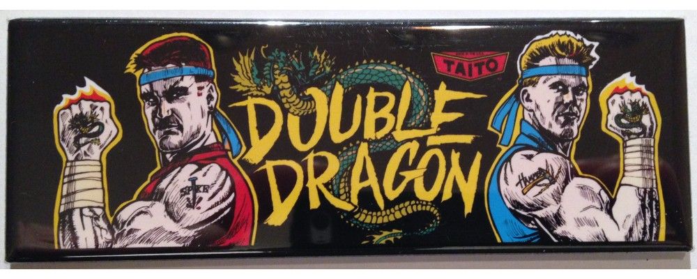 Double Dragon - Marquee - Magnet - Taito