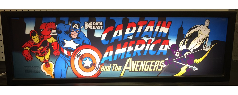 Captain America Arcade Marquee - Lightbox - Data East