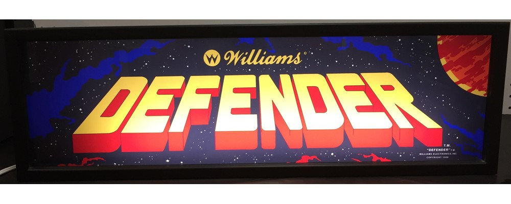 Defender Arcade Marquee - Lightbox - Williams