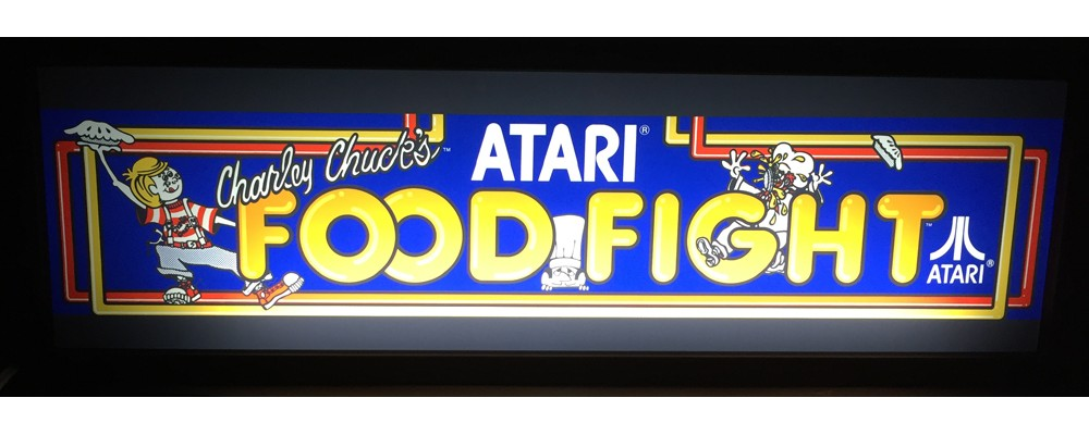 Food Fight Arcade Marquee - Lightbox - Atari
