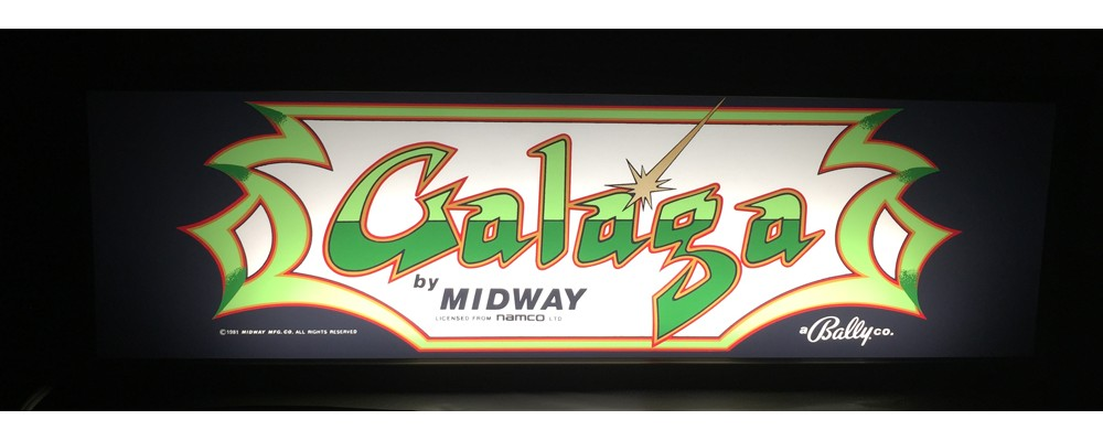 Galaga Arcade Marquee - Lightbox - Midway