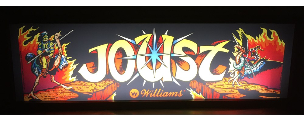 Joust Arcade Marquee - Lightbox - Williams