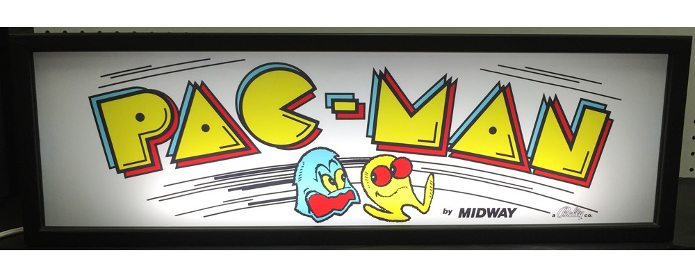 Pac-Man Arcade Marquee - Lightbox - Midway