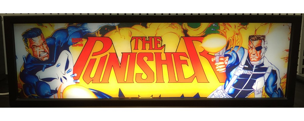 Punisher Arcade Marquee - Lightbox - Marvel