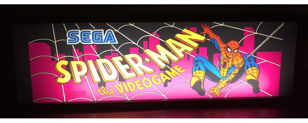 Spiderman Arcade Marquee - Lightbox - Sega
