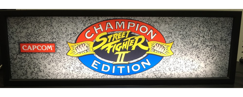Street Fighter II Champion Edition Arcade Marquee - Lightbox - Capcom