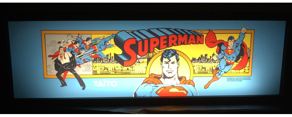 Superman Arcade Marquee - Lightbox - Taito