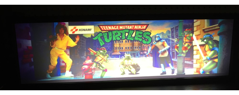 Teenage Mutant Ninja Turtles Arcade Marquee - Lightbox - Konami