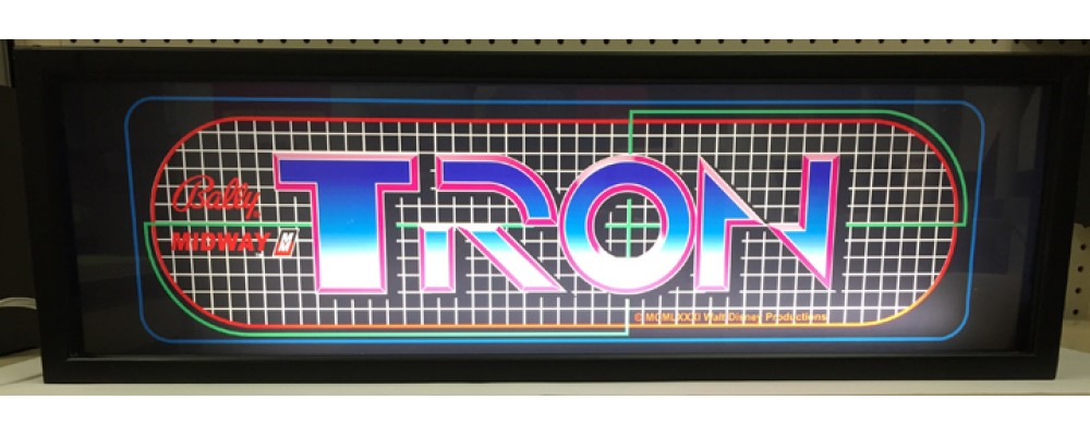 Tron Arcade Marquee - Lightbox - Bally / Midway