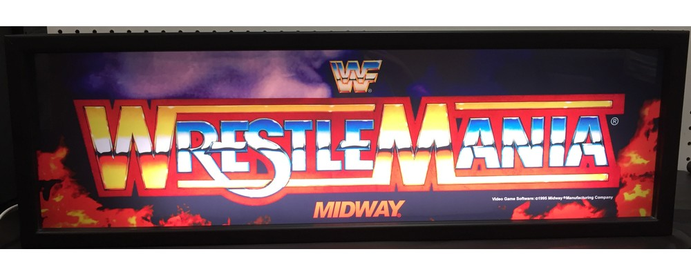 WWF Wrestlemania Arcade Marquee - Lightbox - Midway