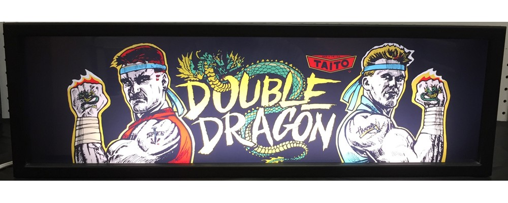 Double Dragon Arcade Marquee - Lightbox - Taito