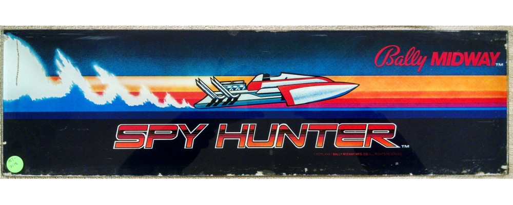 Spy Hunter - Original Arcade Marquee - Bally / Midway