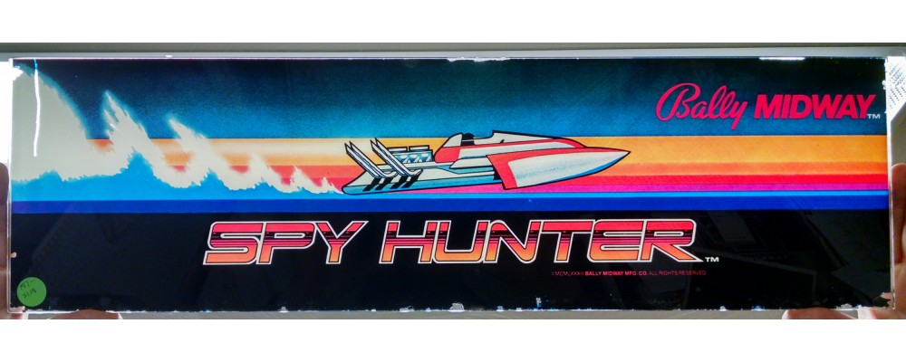 Spy Hunter - Original Arcade Marquee - Bally / Midway