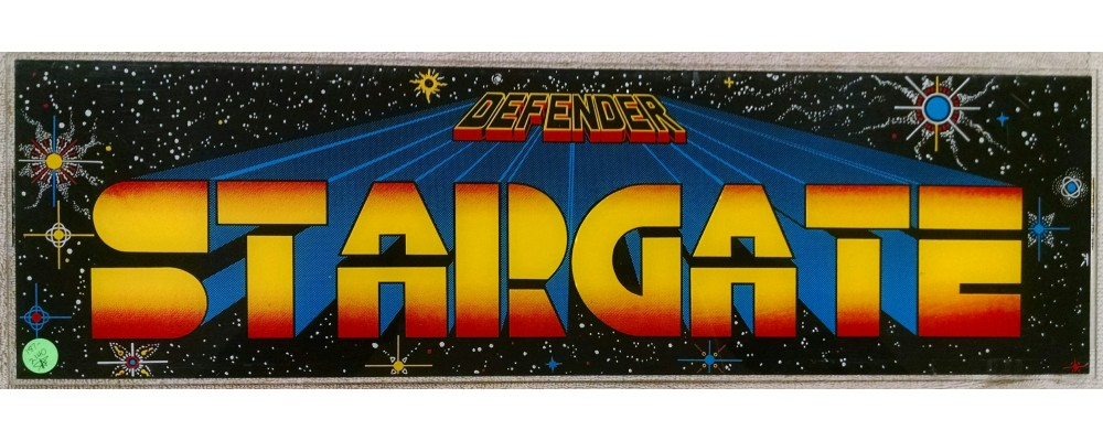 Stargate - Original Arcade Marquee - Williams