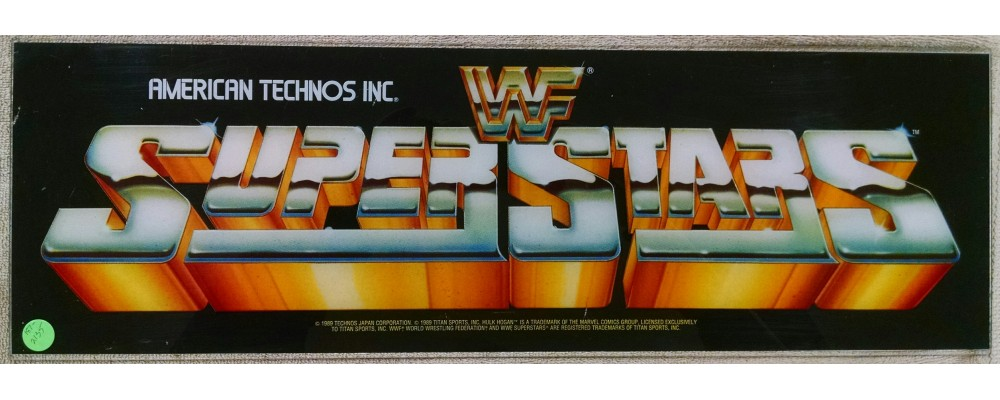 WWF Superstars - Original Arcade Marquee - Technos