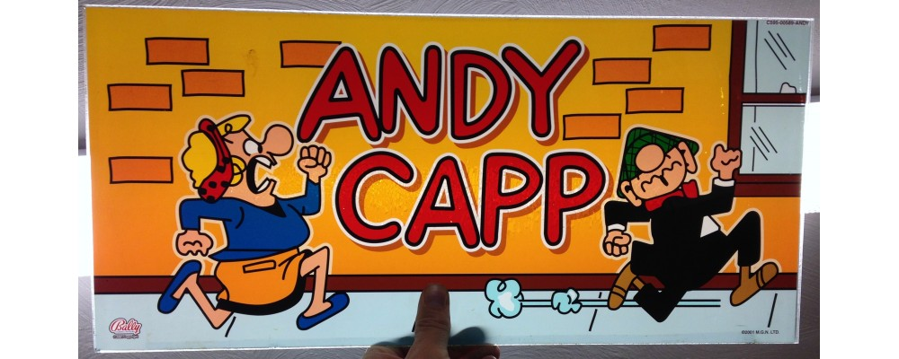 Andy Capp  - Slot Machine Accessories - Display Glass - Bally Gaming