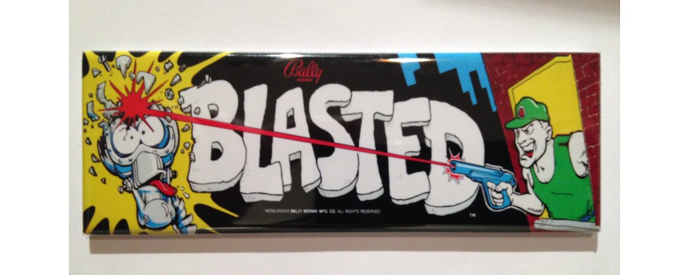 Blasted - Marquee - Magnet - Bally/Midway