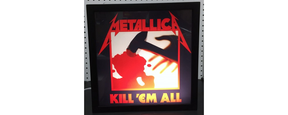 Metallica Kill 'Em All - Album Cover Print - Lightbox