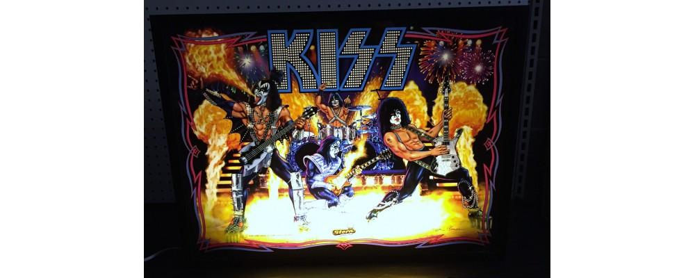 Kiss - Original Pinball Marquee - Lightbox - Stern