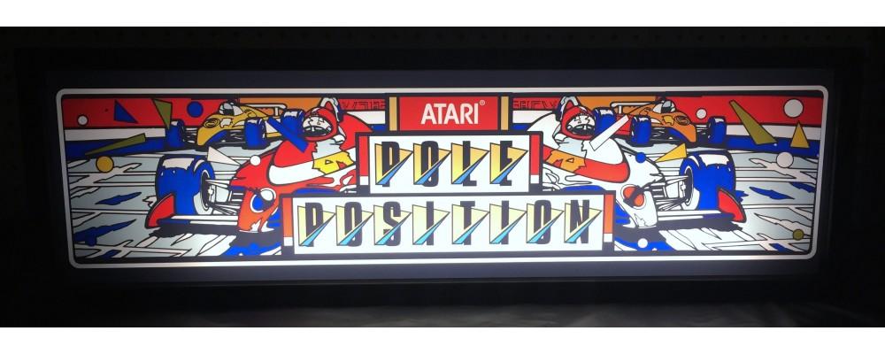 Pole Position Arcade Marquee - Lightbox - Atari