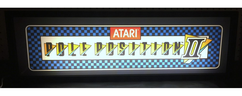 Pole Position II Arcade Marquee - Lightbox - Atari