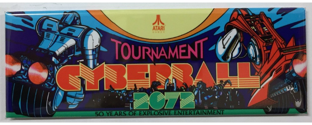 Tournament Cyberball 2072 - Marquee - Magnet - Atari
