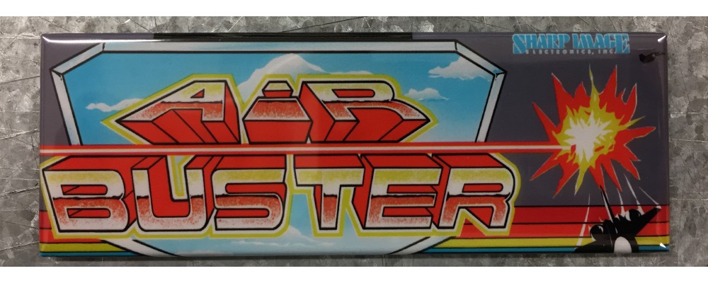 Air Buster - Arcade Game Marquee - Magnet - Sharp Image