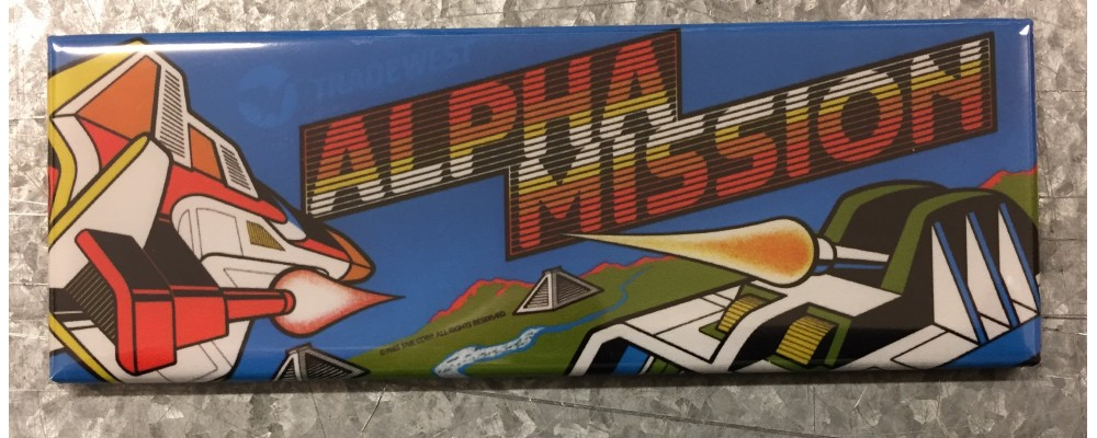 Alpha Mission - Arcade Game Marquee - Magnet - SNK
