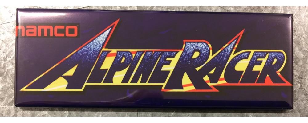 Alpine Racer - Arcade Game Marquee - Magnet - Namco
