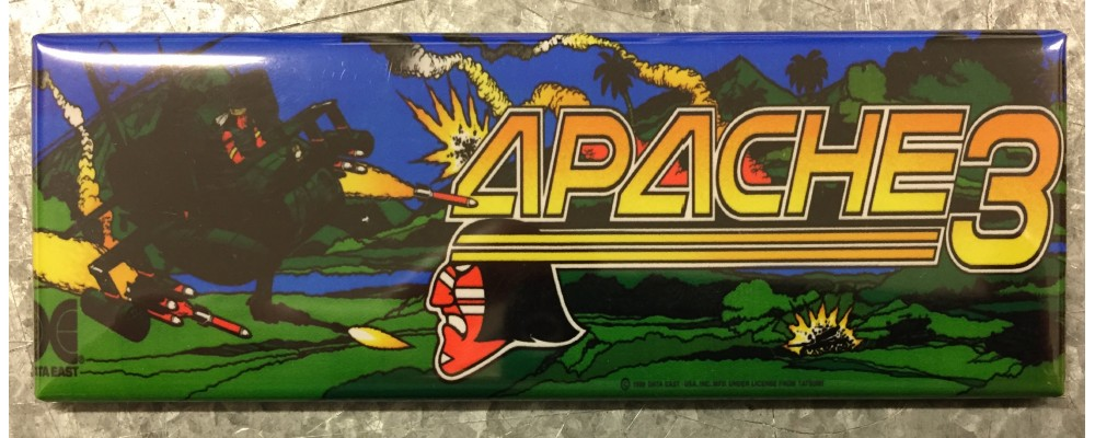 Apache 3 - Arcade Game Marquee - Magnet - Data East