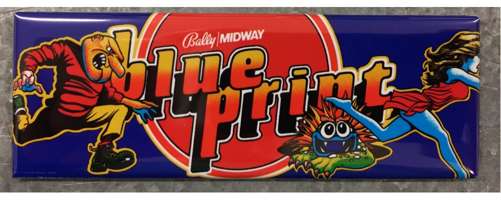 Blue Print - Arcade Game Marquee - Magnet - Bally/Midway