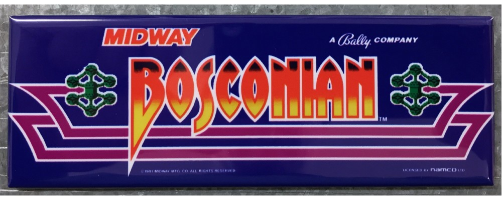 Bosconian - Marquee - Magnet - Midway
