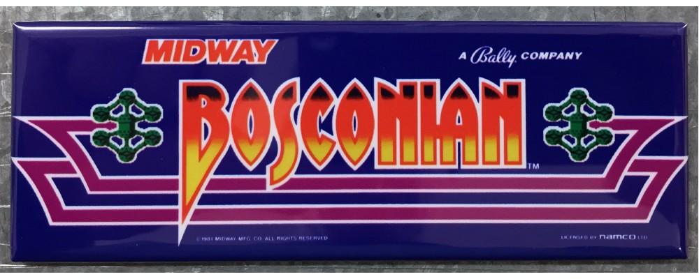 Bosconian Arcade Game Marquee Fridge Magnet