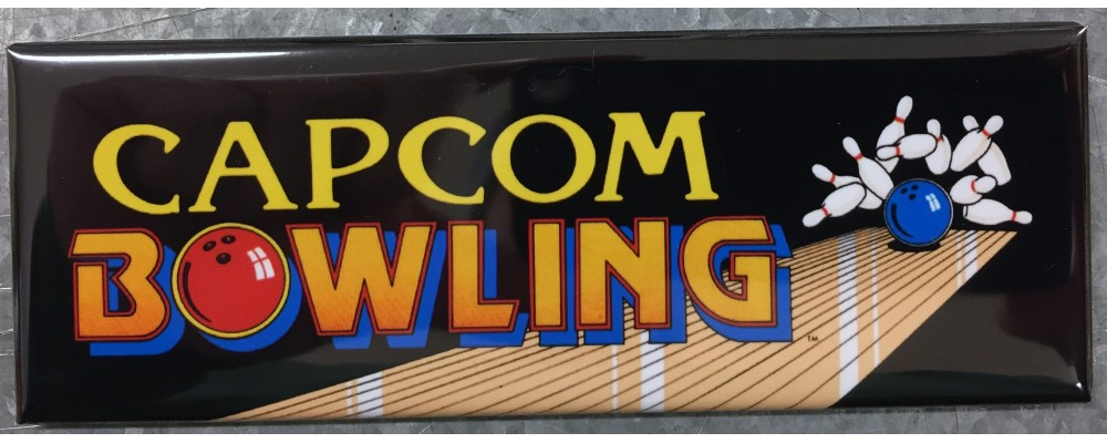 Capcom Bowling - Marquee - Magnet - Capcom