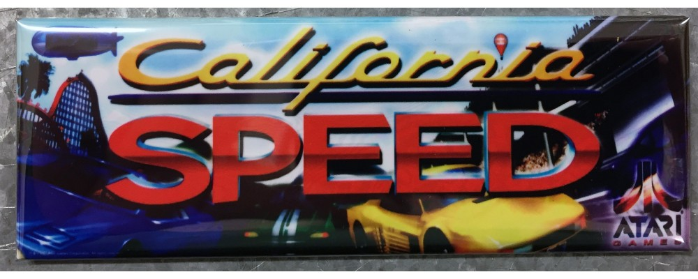 California Speed - Marquee - Magnet - Atari