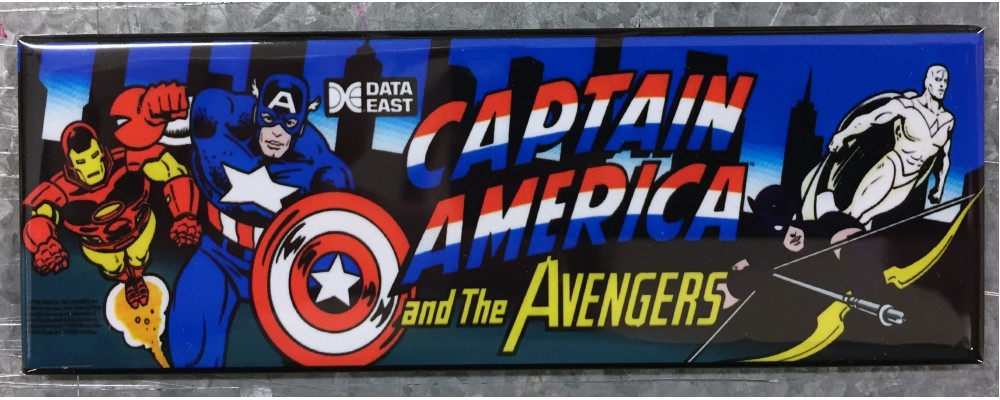 Captain America - Marquee - Magnet - Data East