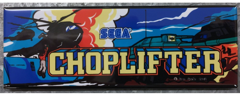 Choplifter - Marquee - Magnet - Sega