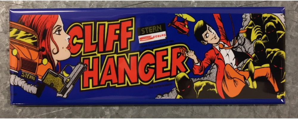 Cliff Hanger - Arcade Game Marquee - Magnet - Stern
