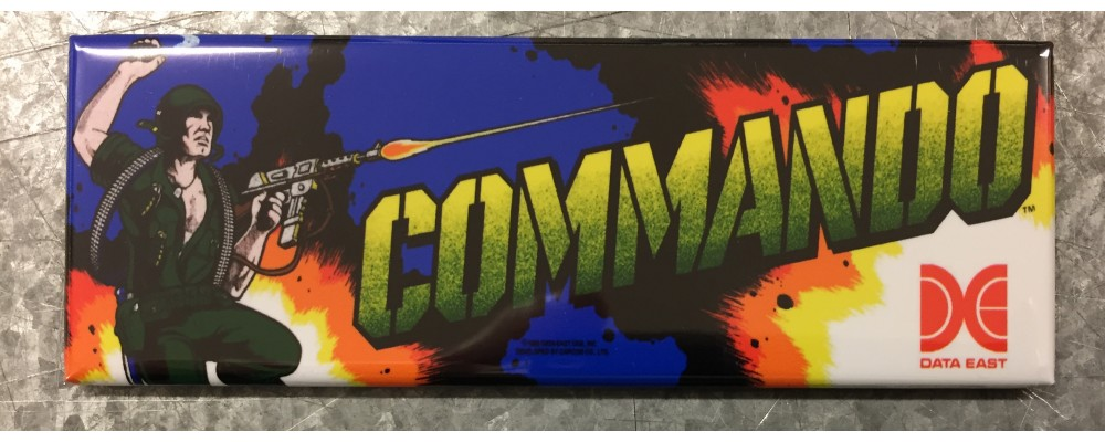 Commando - Arcade Game Marquee - Magnet - Data East