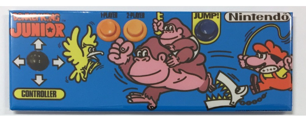 Donkey Kong Jr Control Panel - Arcade Marquee - Magnet - Nintendo