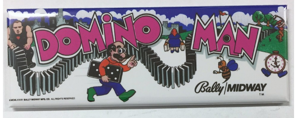 Domino Man - Marquee - Magnet - Bally/Midway