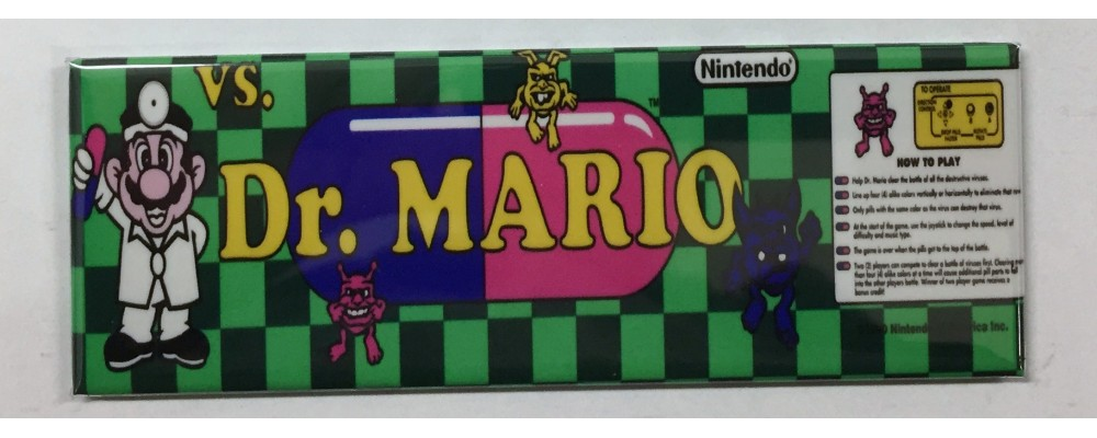 Dr. Mario - Marquee - Magnet - Nintendo