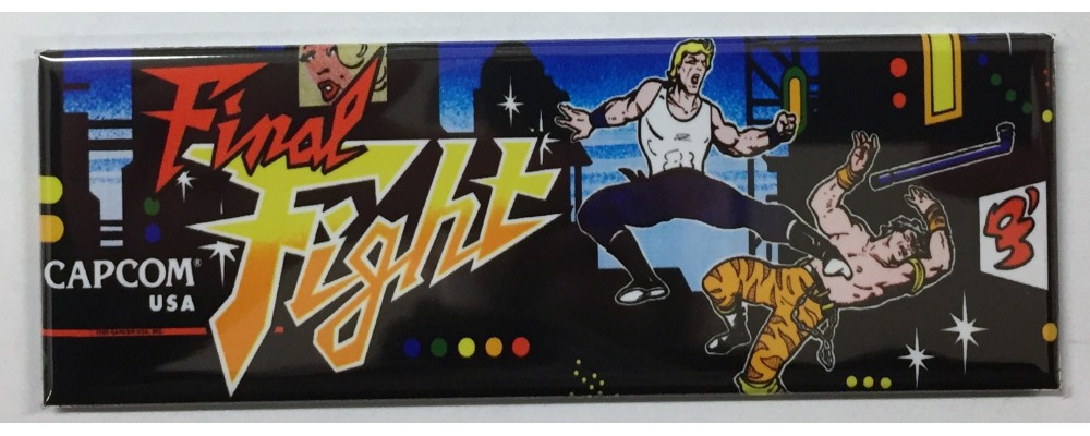 Final Fight - Arcade Marquee - Magnet - Capcom