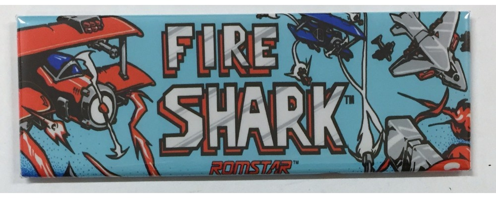Fire Shark - Arcade Marquee - Magnet - Romstar